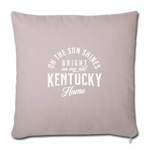 My Old Kentucky Home Throw Pillow Cover - light taupe