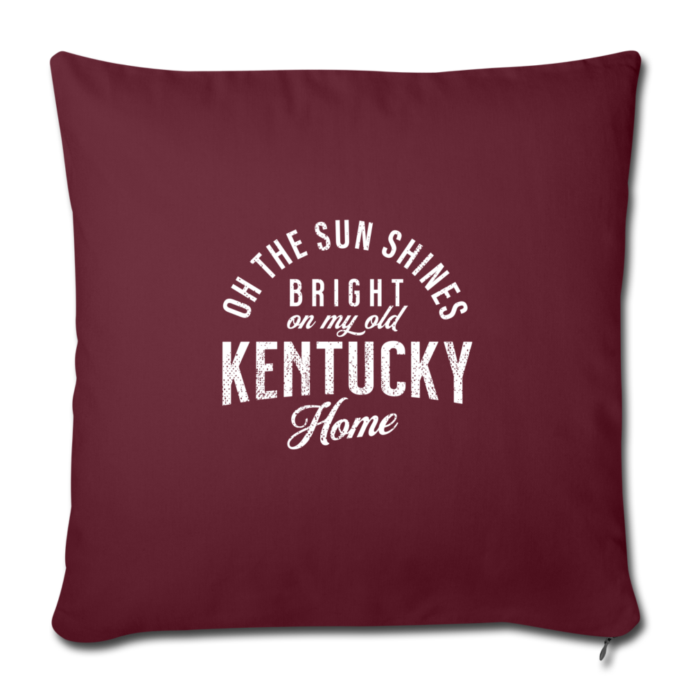 My Old Kentucky Home Throw Pillow Cover - burgundy