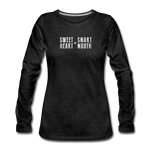 Load image into Gallery viewer, Sweet Heart + Smart Mouth Women's Long Sleeve Tee - charcoal gray