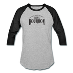Load image into Gallery viewer, I Love Bourbon Baseball Tee - heather gray/black