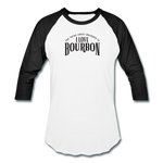 Load image into Gallery viewer, I Love Bourbon Baseball Tee - white/black