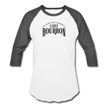 Load image into Gallery viewer, I Love Bourbon Baseball Tee - white/charcoal