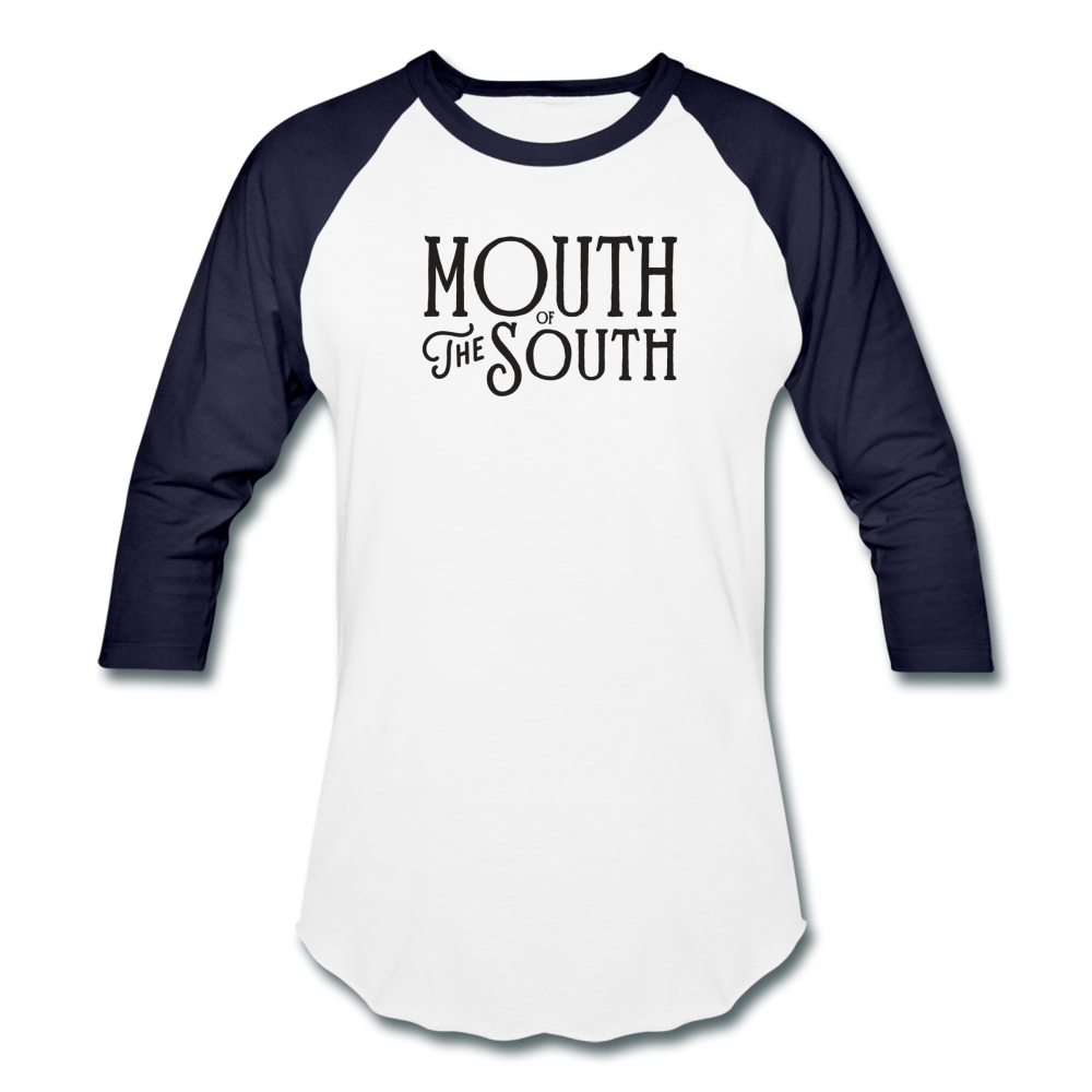 Mouth of the South Baseball Tee - white/navy