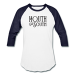 Load image into Gallery viewer, Mouth of the South Baseball Tee - white/navy