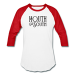 Load image into Gallery viewer, Mouth of the South Baseball Tee - white/red