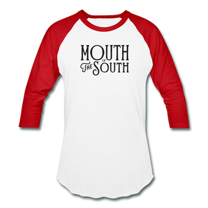 Mouth of the South Baseball Tee - white/red