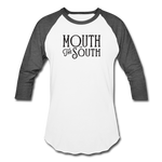 Load image into Gallery viewer, Mouth of the South Baseball Tee - white/charcoal