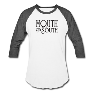 Mouth of the South Baseball Tee - white/charcoal