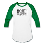 Load image into Gallery viewer, Mouth of the South Baseball Tee - white/kelly green