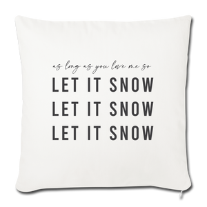 LET IT SNOW Throw Pillow Cover - natural white