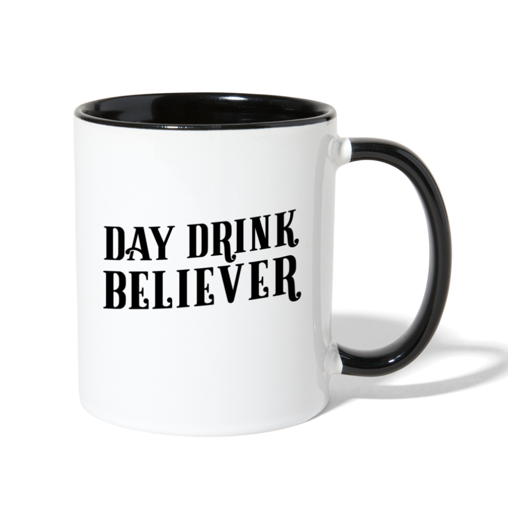 Day Drink Believer Coffee Mug - white/black