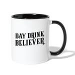 Load image into Gallery viewer, Day Drink Believer Coffee Mug - white/black