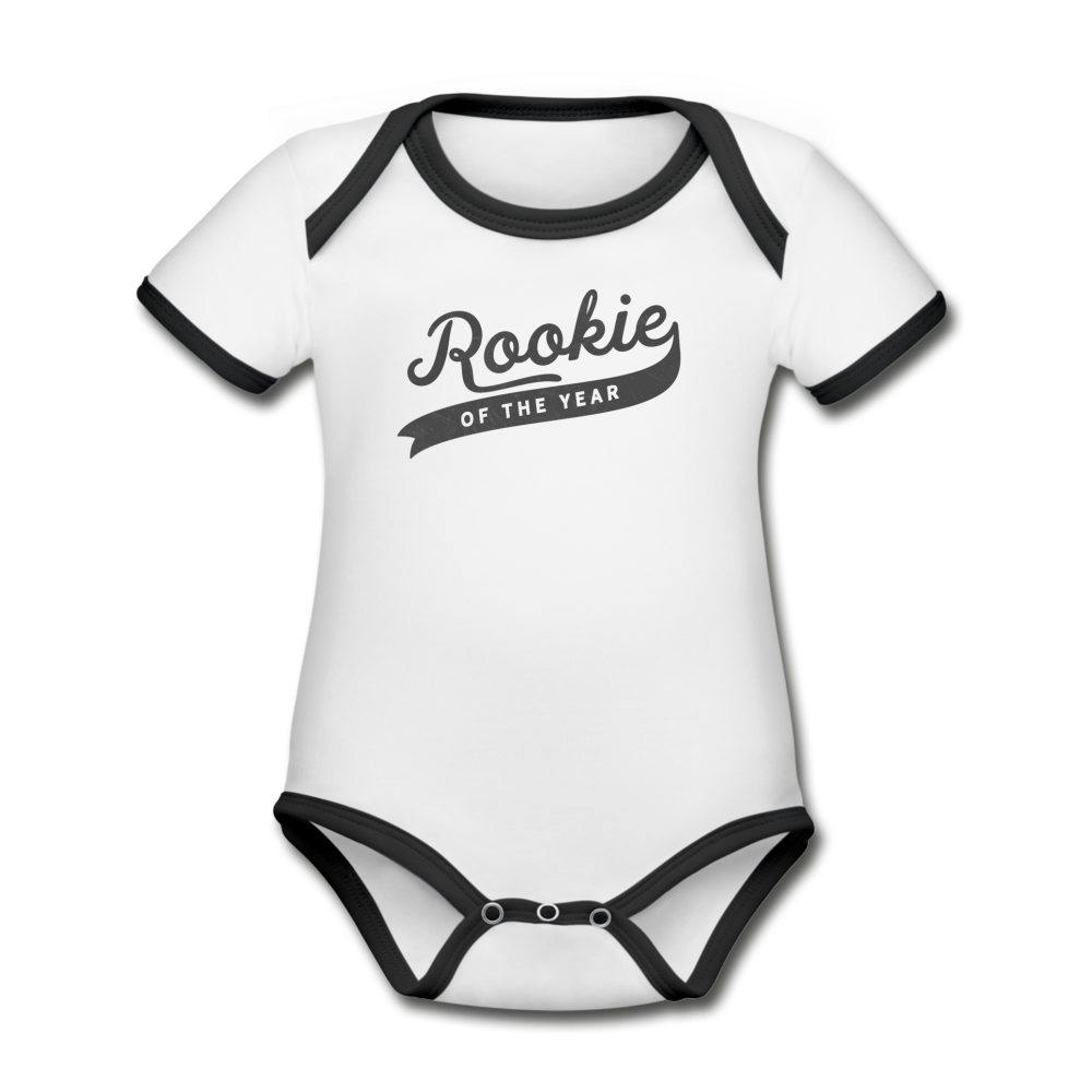 Rookie of the Year Onesie - white/black