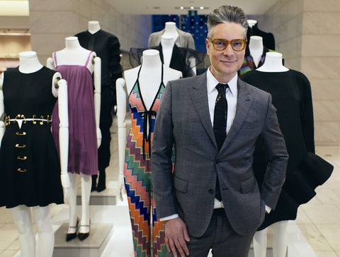 CAMERON IN FRONT OF MANNEQUINS - COURTESY OF HOLT RENFREW