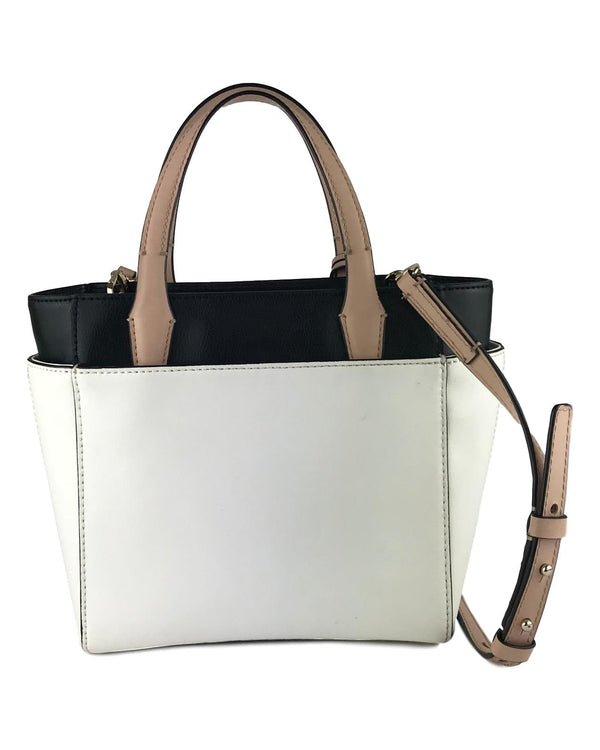 DIANE VON FURSTENBERG White & Black Leather Crossbody