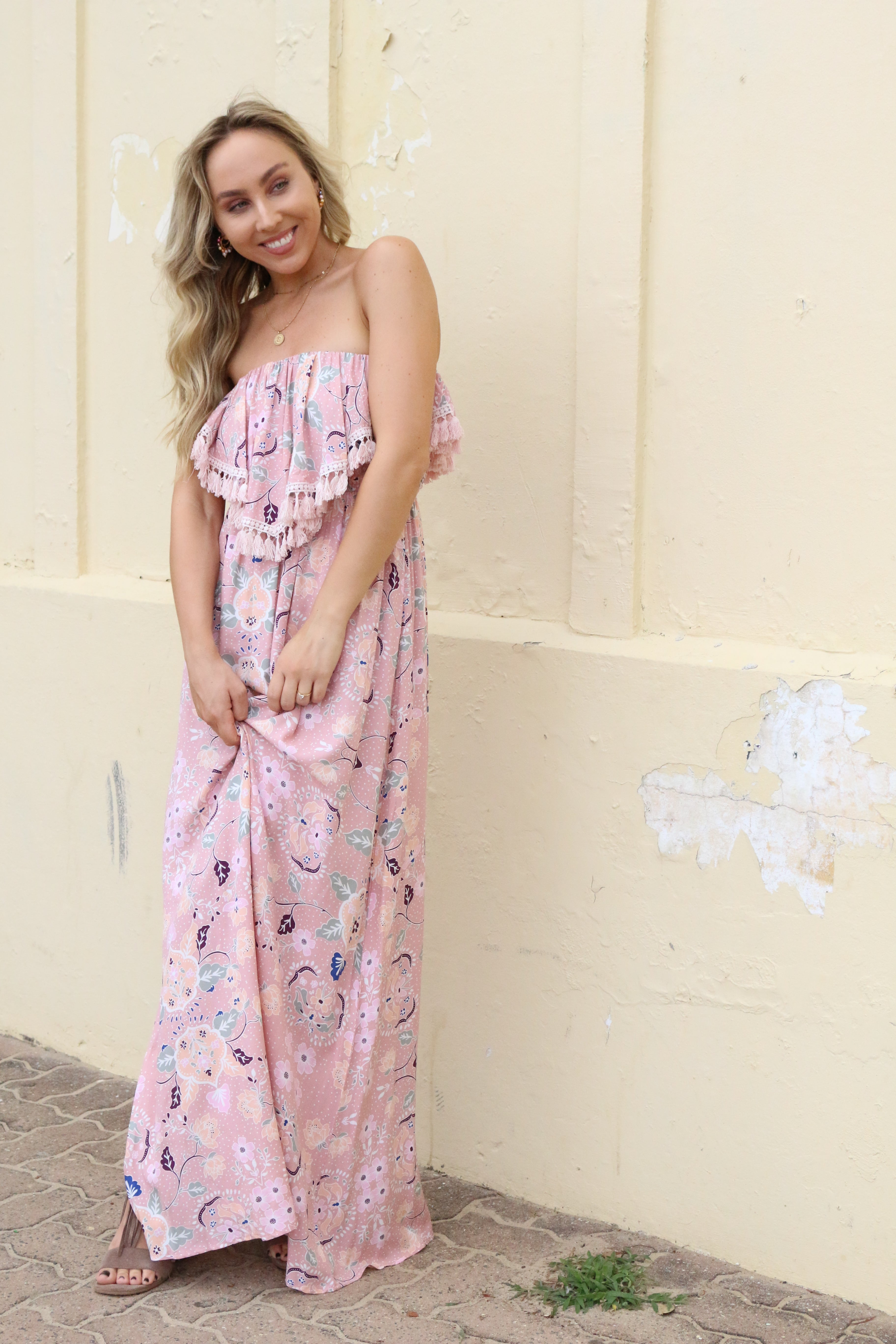 Pocket Full of Peonies Maxi Dress