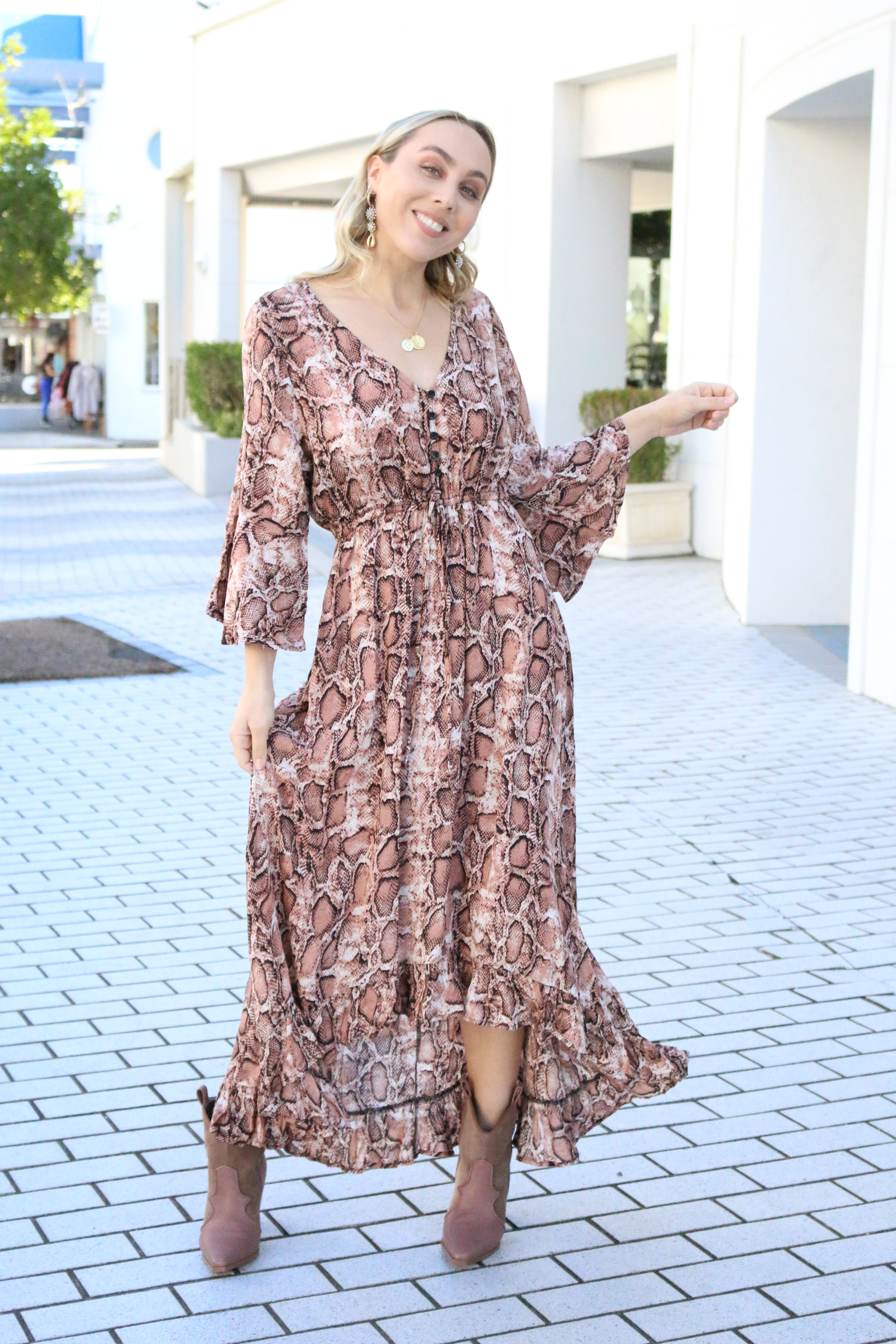 Fee-lion Maxi dress