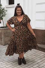 Leopard Lover Wrap Dress
