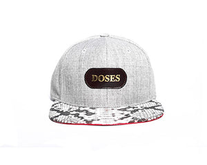 Doses Heather Snakeskin Strapback