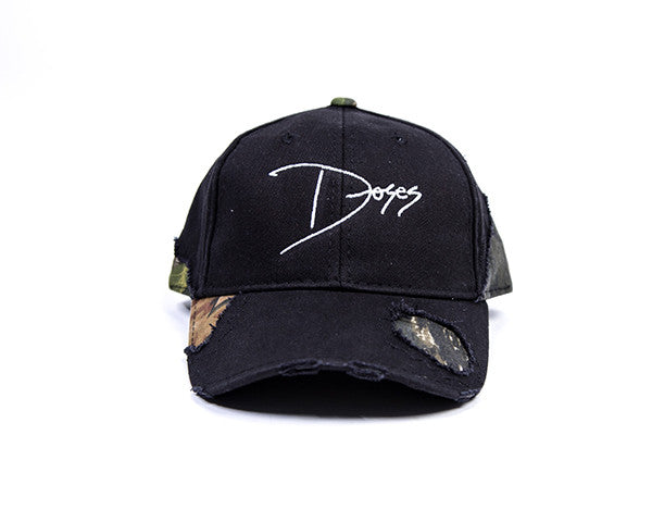 Doses Distressed Forest Black Strapback