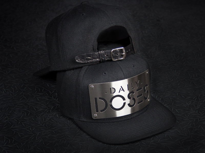 DAILY DOSES STEEL PLATE STRAPBACK