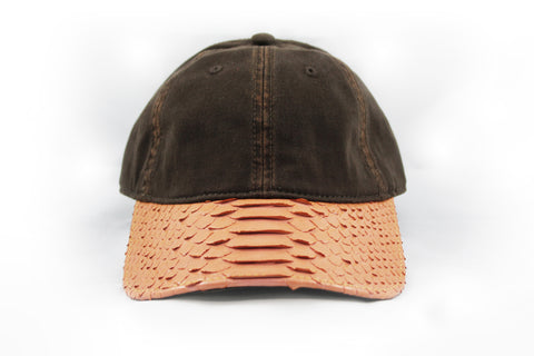 Doses Salmon Snakeskin Strapback *SOLD OUT