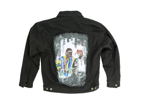 Doses East Meets West Painted Denim Jacket