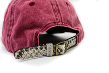 Doses Natural Red Denim Python Strapback