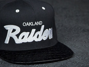Oakland Raiders Alligator Strapback