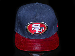 Denim San Francisco 49ers Alligator Strapback