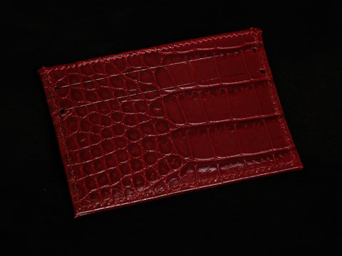 Red Gator Slip Wallet