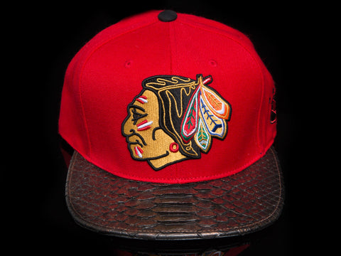 Chicago Blackhawks Snakeskin Strapback
