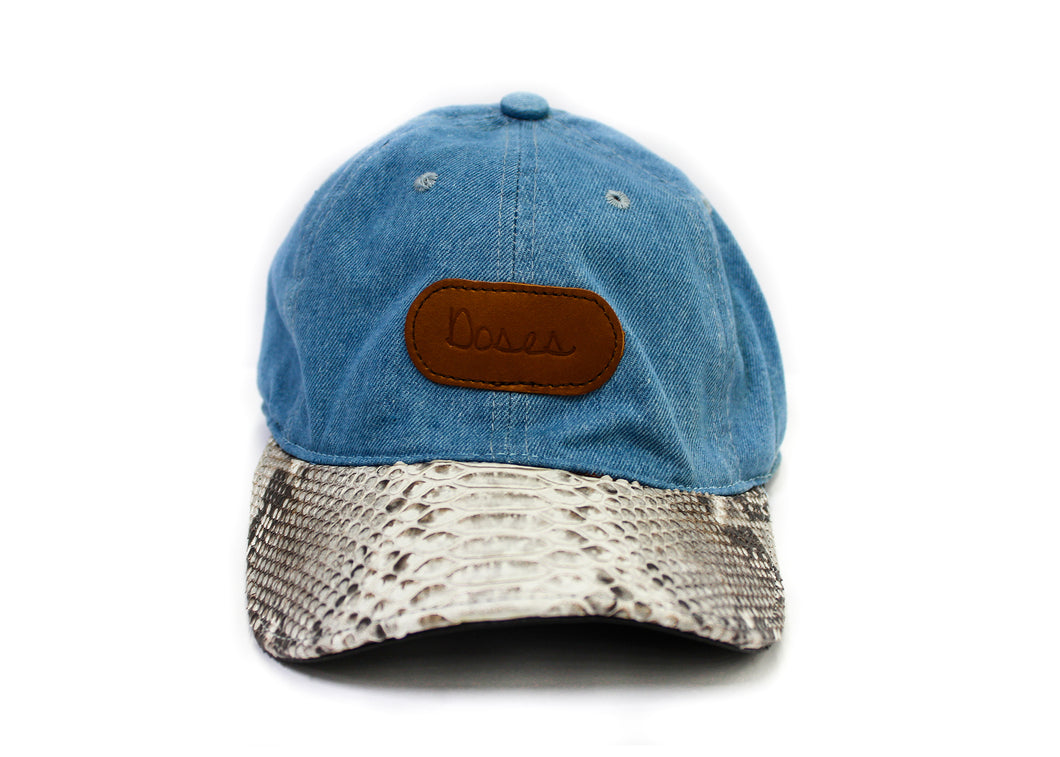 Doses Natural Blue Denim Python Strapback