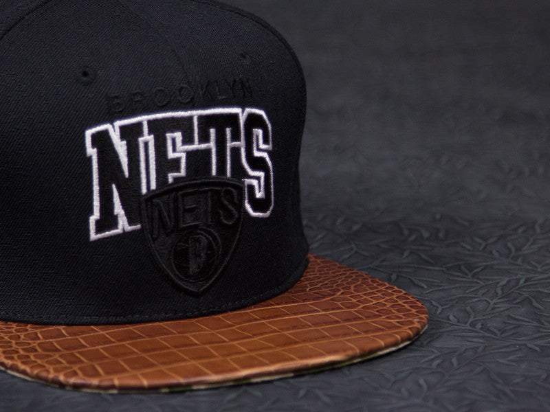 Brooklyn Nets Alligator Camo Strapback