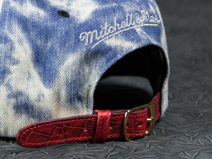 Chicago Bulls Acid Wash Denim Alligator Strapback