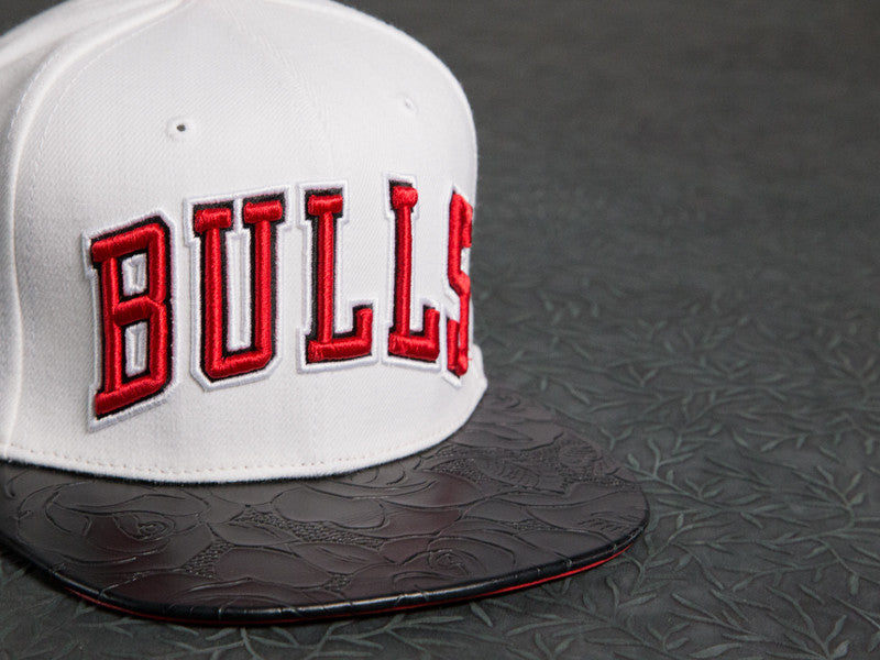 Chicago Bulls Rose Embossed Strapback