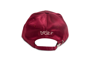 Panthera Satin Strapback (Burgundy)