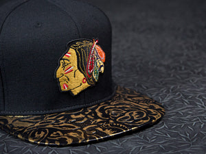 Chicago Blackhawks Rose Leather Strapback
