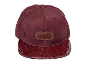 Doses Crimson Alligator Strapback