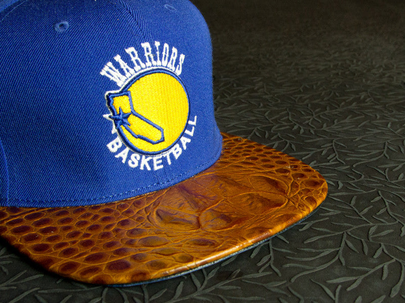 Golden State Warriors Alligator Strapback