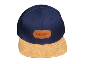 Doses Diamond Weave Italian Leather Strapback
