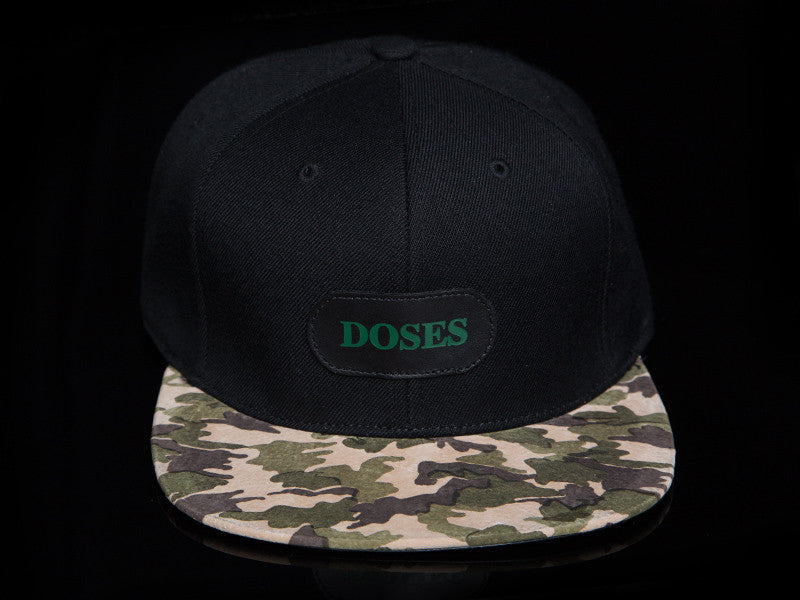 Doses Camo Leather Strapback