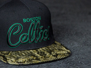 Boston Celtics Snakeskin Strapback