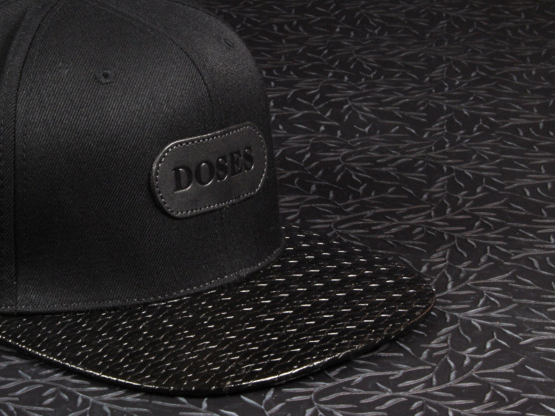"Doses ""INK"" Black Woven Strapback"