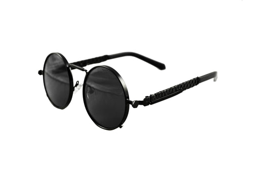 Black Python Sherlock Sunglasses (Black Lenses)