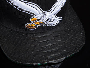 Philadelphia Eagles Black Snakeskin Strapback
