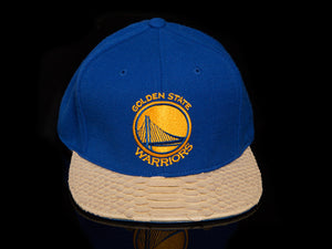 Golden State Warriors Snakeskin Strapback