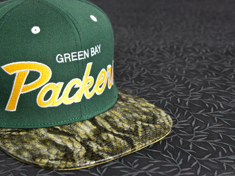Green Bay Packers Snakeskin Strapback
