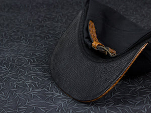 Doses Brown Woven Leather Strapback