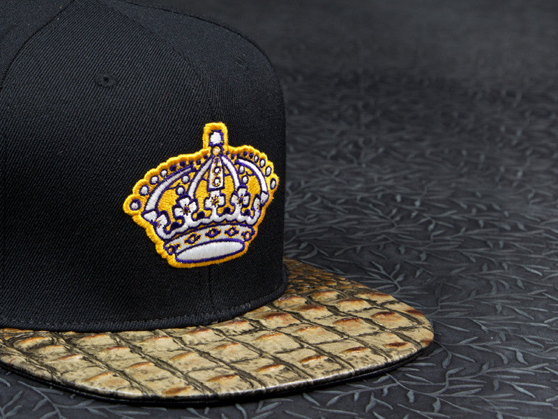 Retro LA Kings Alligator Strapback
